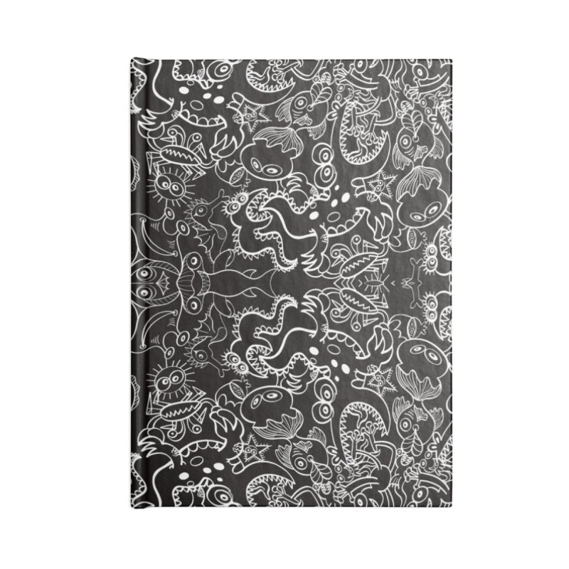 Dark creatures from deep waters mandala design Accessories Notebook by Zoo&co's Artist Shop