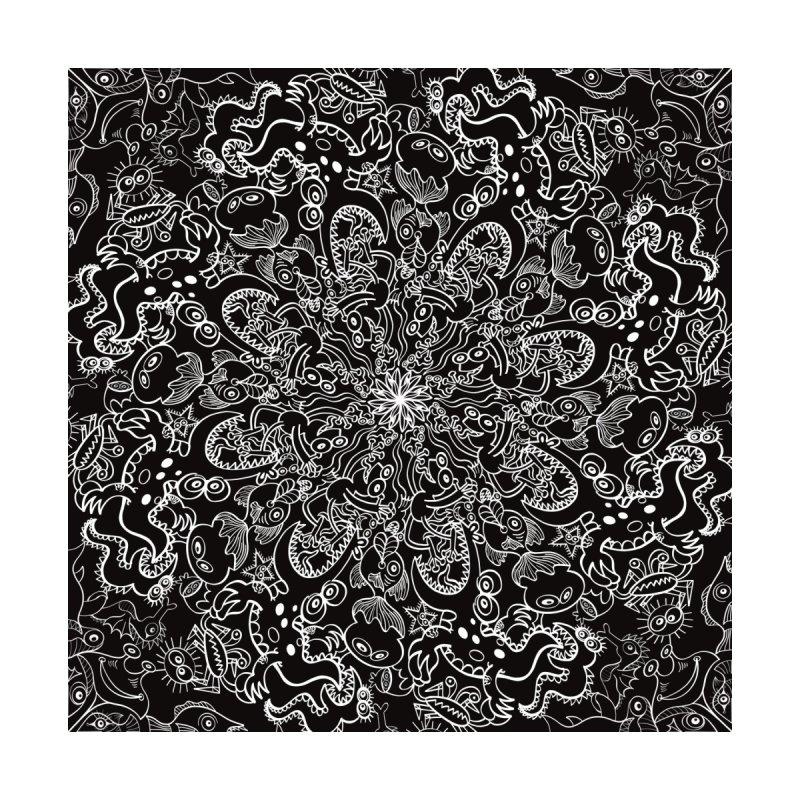 Dark creatures from deep waters mandala design Home Blanket by Zoo&co's Artist Shop