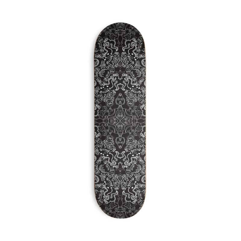 Dark creatures from deep waters mandala design Accessories Skateboard by Zoo&co's Artist Shop