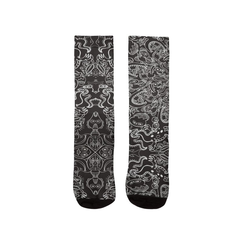 Dark creatures from deep waters mandala design Women's Socks by Zoo&co's Artist Shop
