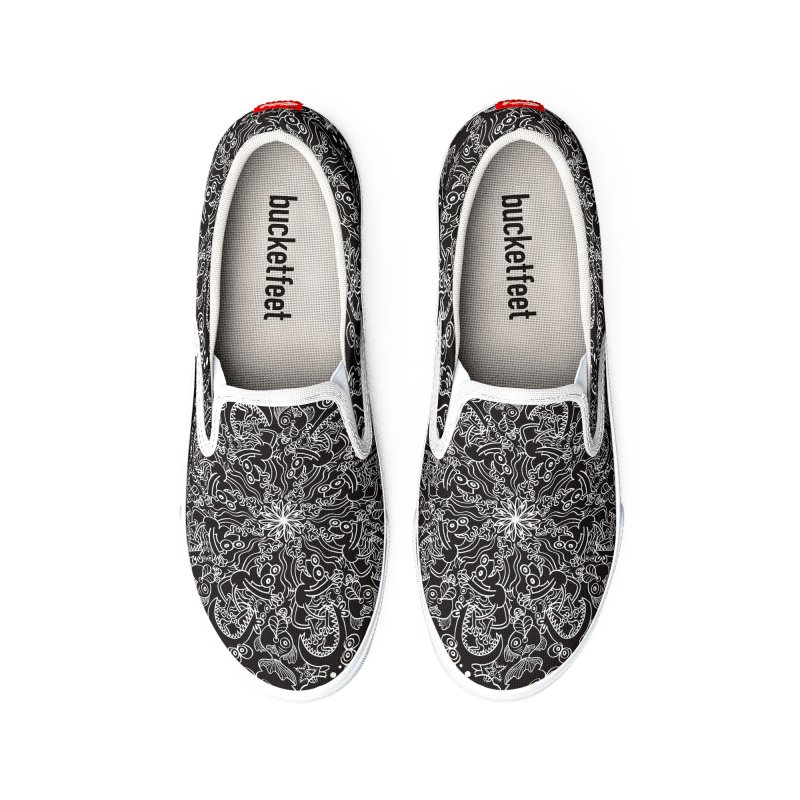 Dark creatures from deep waters mandala design Women's Shoes by Zoo&co's Artist Shop