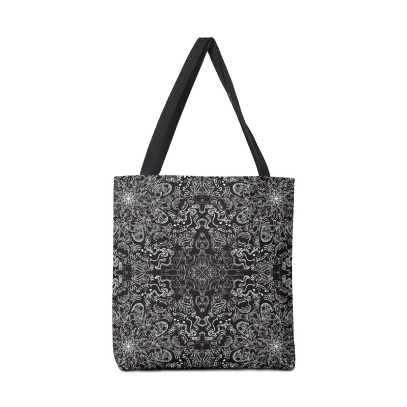 Dark creatures from deep waters mandala design Accessories Bag by Zoo&co's Artist Shop
