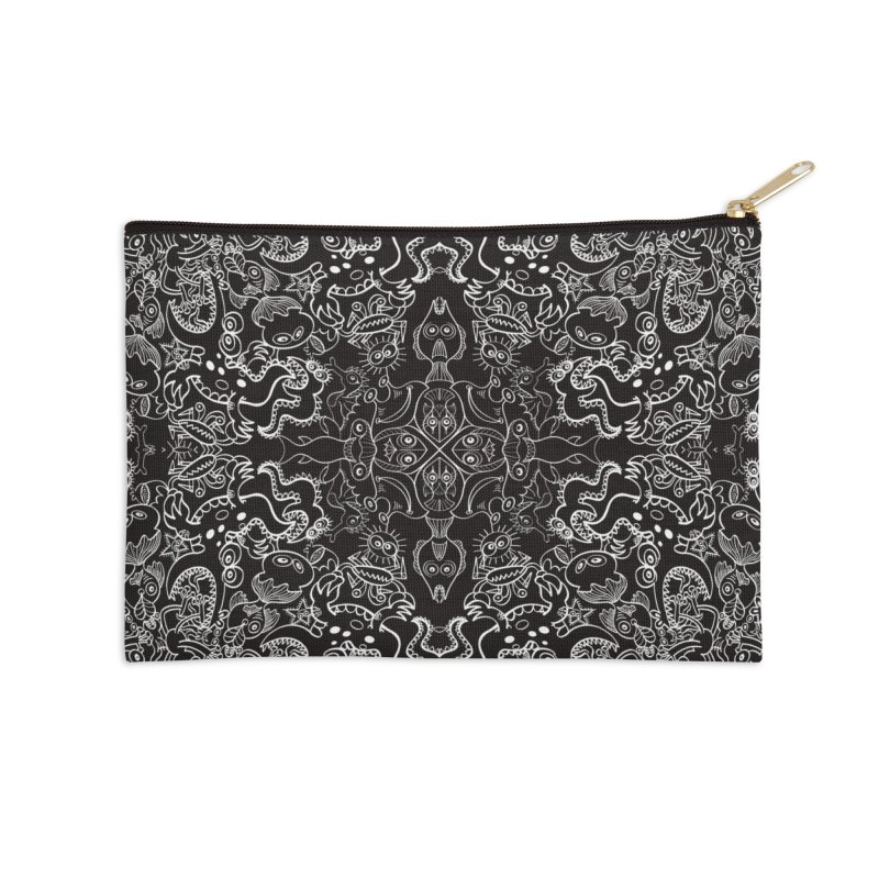 Dark creatures from deep waters mandala design Accessories Zip Pouch by Zoo&co's Artist Shop