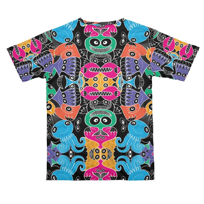 Glowing sea creatures smiling mischievously Women's Cut & Sew by Zoo&co's Artist Shop