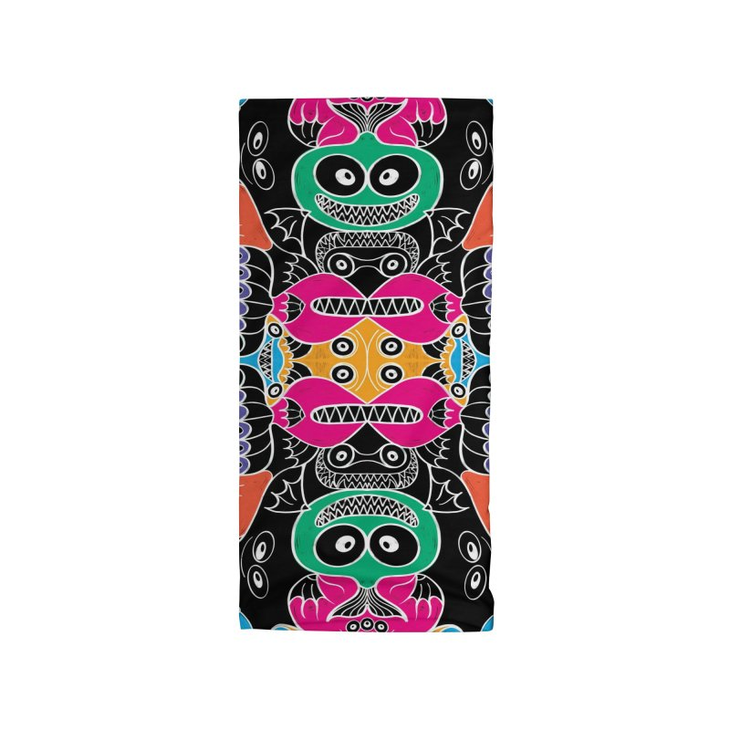 Glowing sea creatures smiling mischievously Accessories Neck Gaiter by Zoo&co's Artist Shop