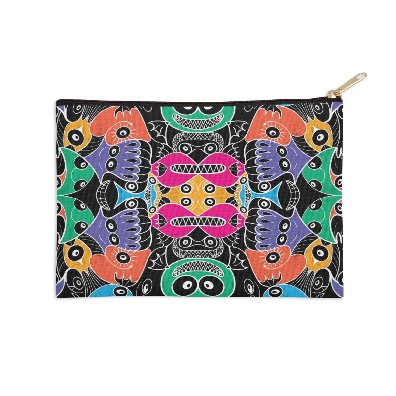 Glowing sea creatures smiling mischievously Accessories Zip Pouch by Zoo&co's Artist Shop