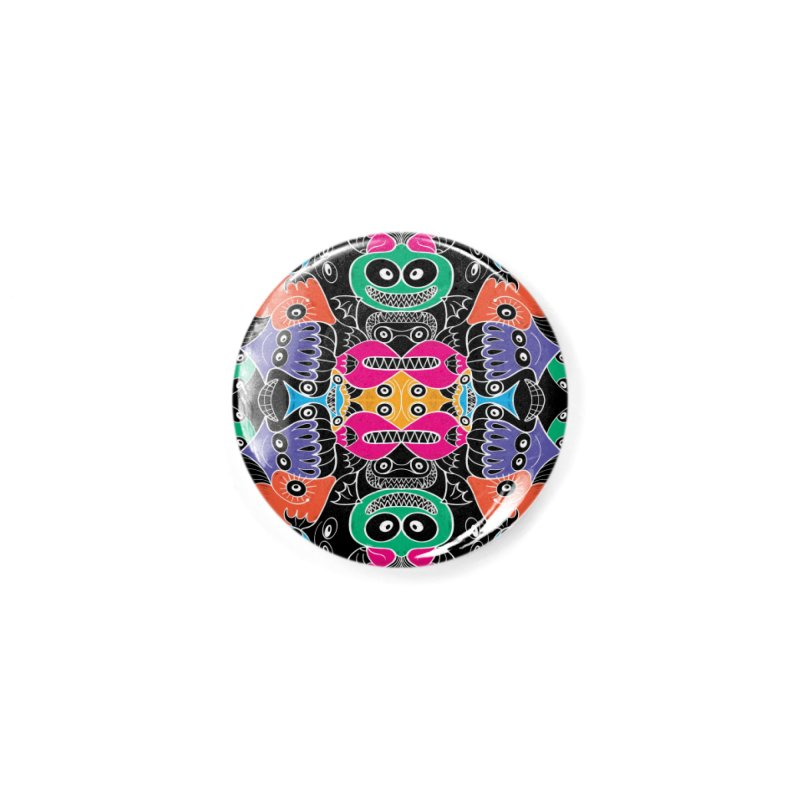 Glowing sea creatures smiling mischievously Accessories Button by Zoo&co's Artist Shop