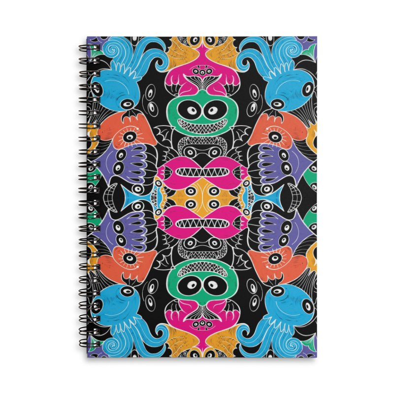 Glowing sea creatures smiling mischievously Accessories Notebook by Zoo&co's Artist Shop