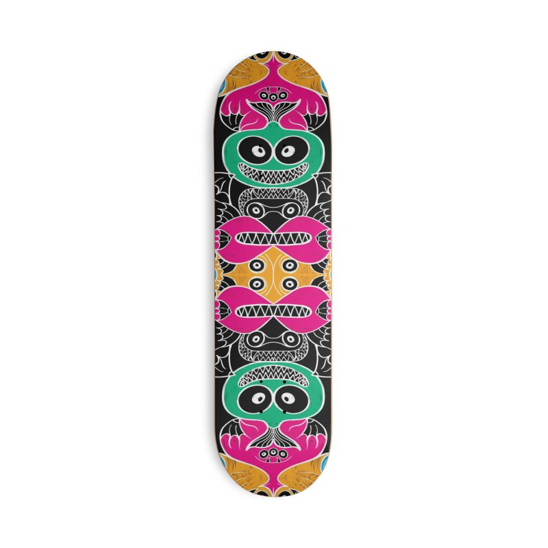 Glowing sea creatures smiling mischievously Accessories Skateboard by Zoo&co's Artist Shop