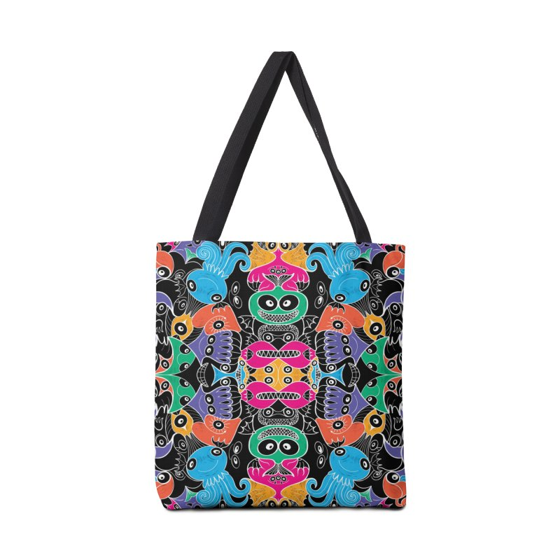 Glowing sea creatures smiling mischievously Accessories Bag by Zoo&co's Artist Shop