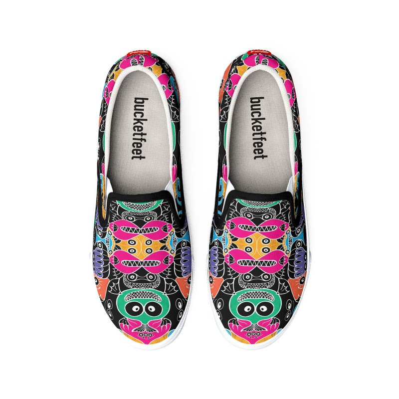 Glowing sea creatures smiling mischievously Men's Shoes by Zoo&co's Artist Shop