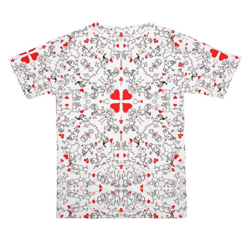 Multiple facets of love in a single funny pattern design Men's Cut & Sew by Zoo&co's Artist Shop