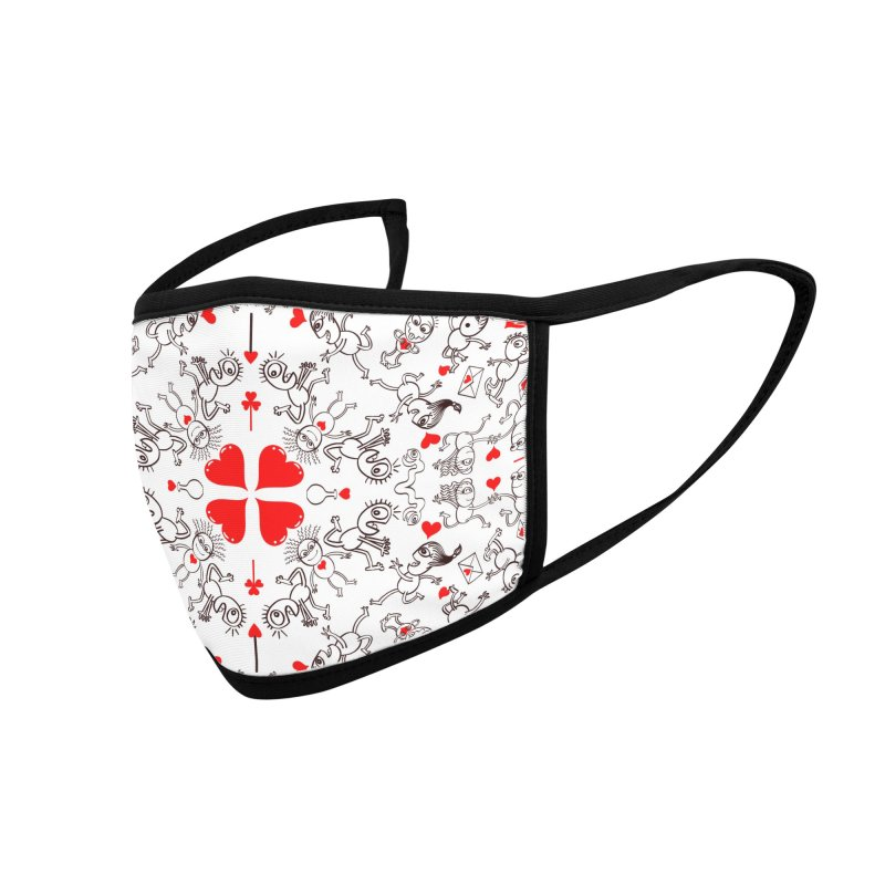 Multiple facets of love in a single funny pattern design Accessories Face Mask by Zoo&co's Artist Shop