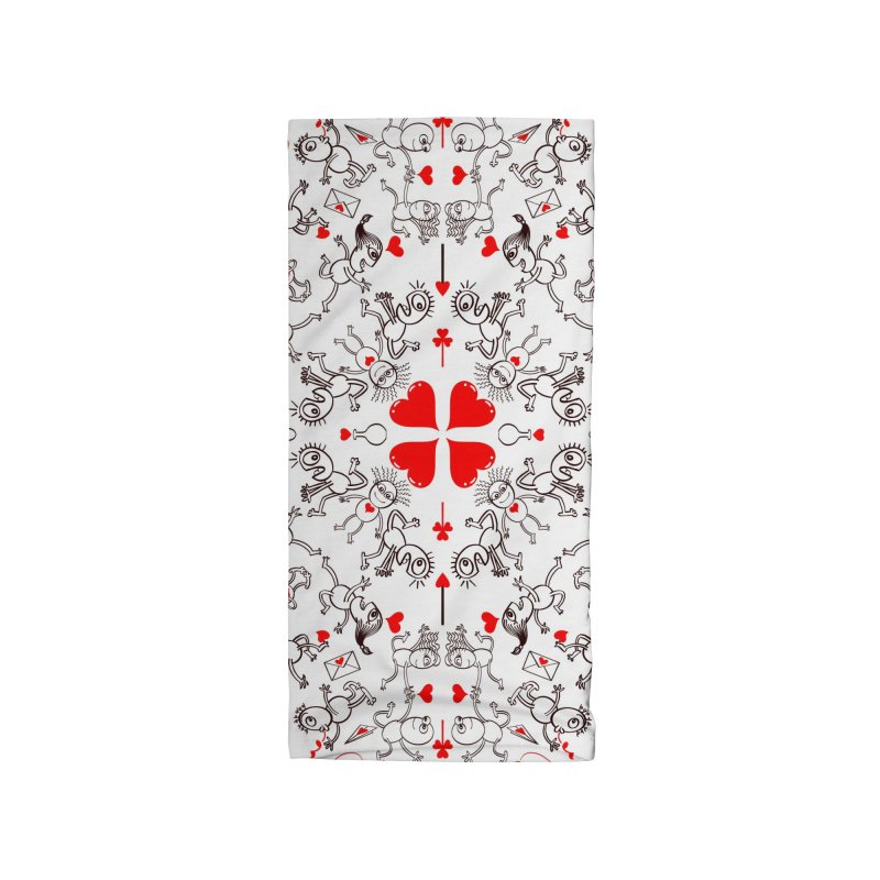 Multiple facets of love in a single funny pattern design Accessories Neck Gaiter by Zoo&co's Artist Shop