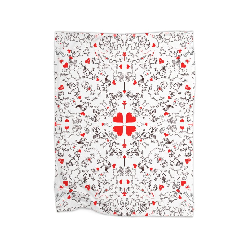 Multiple facets of love in a single funny pattern design Home Blanket by Zoo&co's Artist Shop