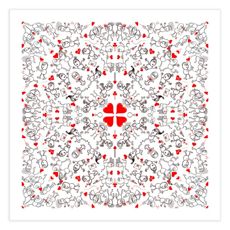 Multiple facets of love in a single funny pattern design Home Fine Art Print by Zoo&co's Artist Shop