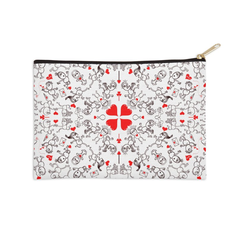 Multiple facets of love in a single funny pattern design Accessories Zip Pouch by Zoo&co's Artist Shop