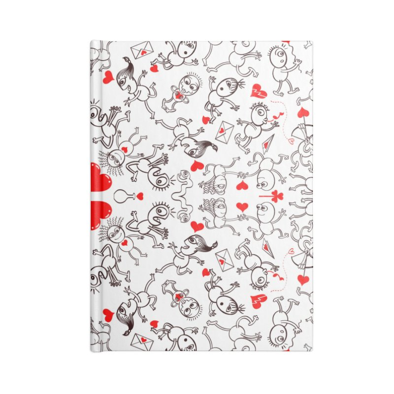 Multiple facets of love in a single funny pattern design Accessories Notebook by Zoo&co's Artist Shop