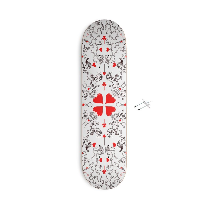 Multiple facets of love in a single funny pattern design Accessories Skateboard by Zoo&co's Artist Shop