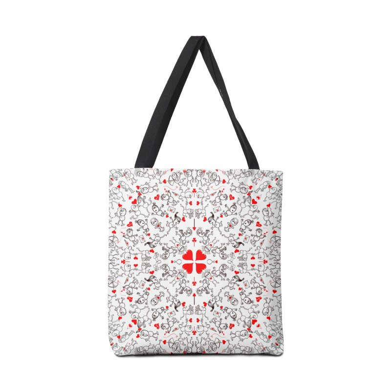 Multiple facets of love in a single funny pattern design Accessories Bag by Zoo&co's Artist Shop