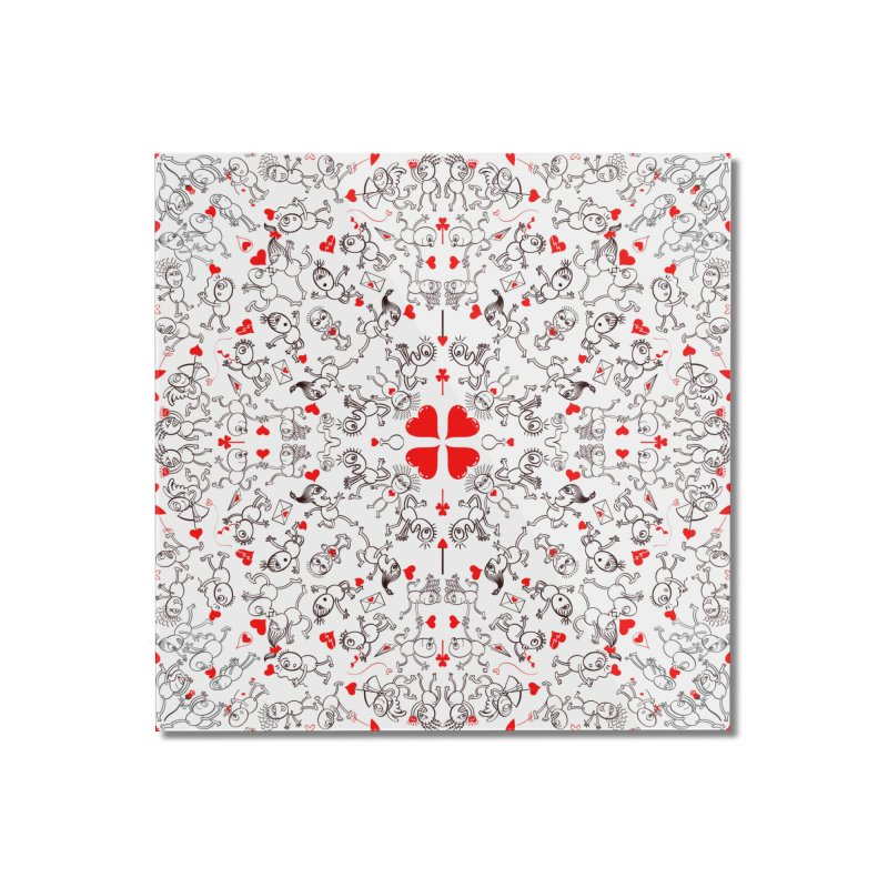 Multiple facets of love in a single funny pattern design Home Mounted Acrylic Print by Zoo&co's Artist Shop