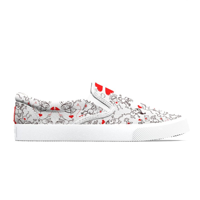 Multiple facets of love in a single funny pattern design Men's Shoes by Zoo&co's Artist Shop