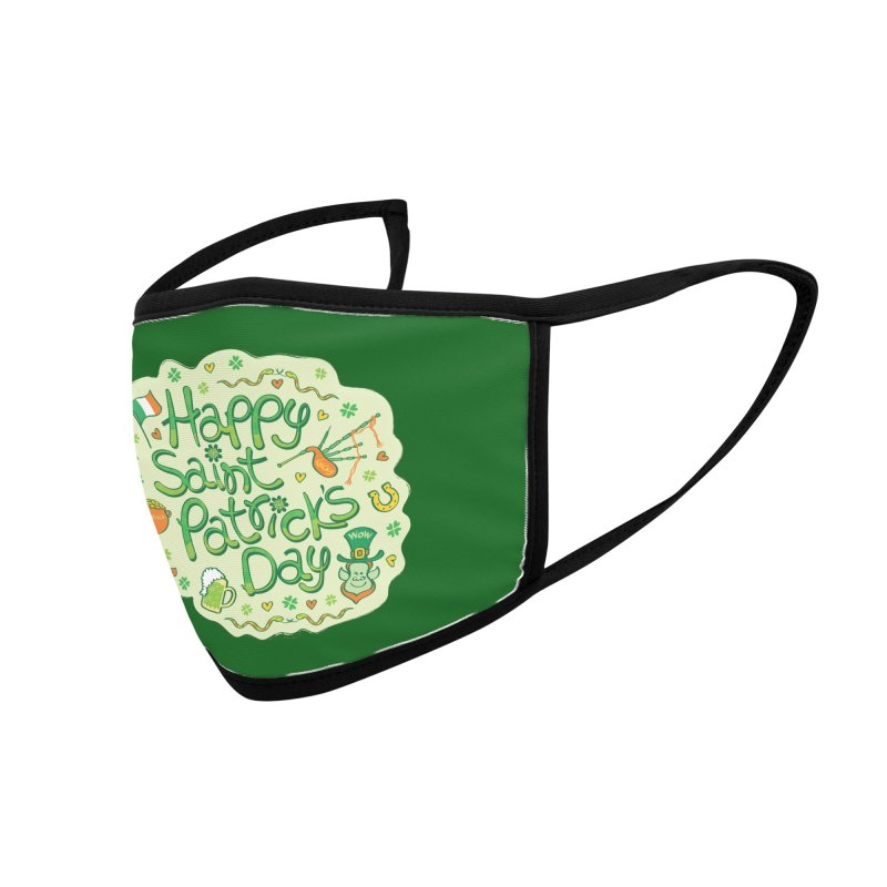 Celebrate Saint Patrick's Day in big style! Accessories Face Mask by Zoo&co's Artist Shop