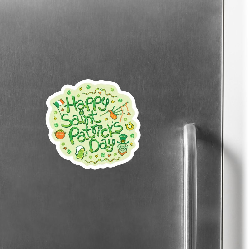 Celebrate Saint Patrick's Day in big style! Accessories Magnet by Zoo&co's Artist Shop