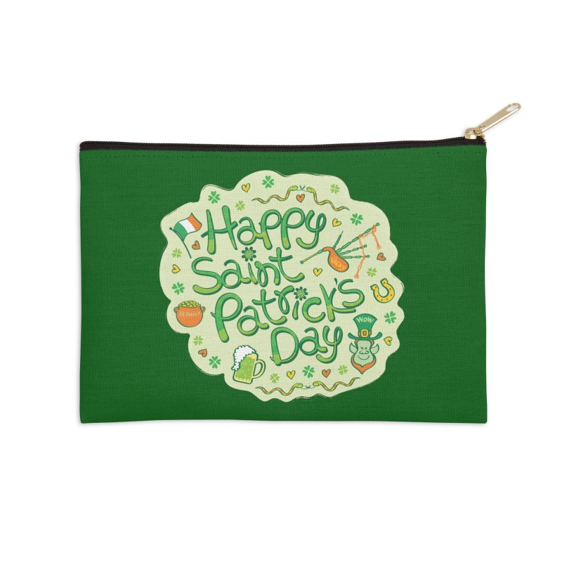 Celebrate Saint Patrick's Day in big style! Accessories Zip Pouch by Zoo&co's Artist Shop