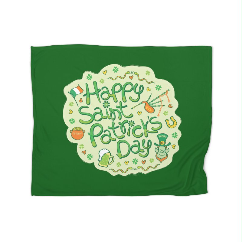 Celebrate Saint Patrick's Day in big style! Home Blanket by Zoo&co's Artist Shop