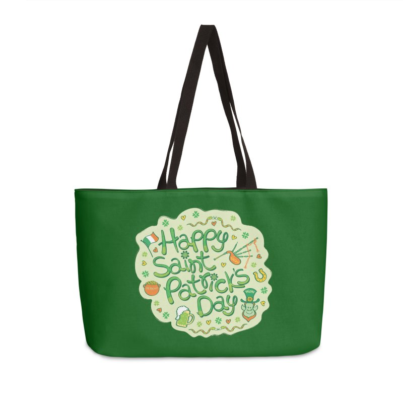 Celebrate Saint Patrick's Day in big style! Accessories Bag by Zoo&co's Artist Shop
