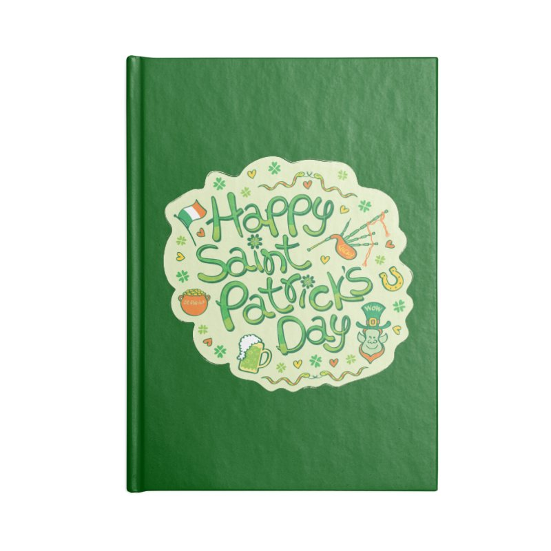 Celebrate Saint Patrick's Day in big style! Accessories Notebook by Zoo&co's Artist Shop