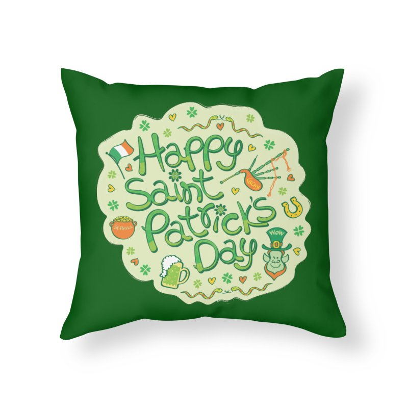 Celebrate Saint Patrick's Day in big style! Home Throw Pillow by Zoo&co's Artist Shop