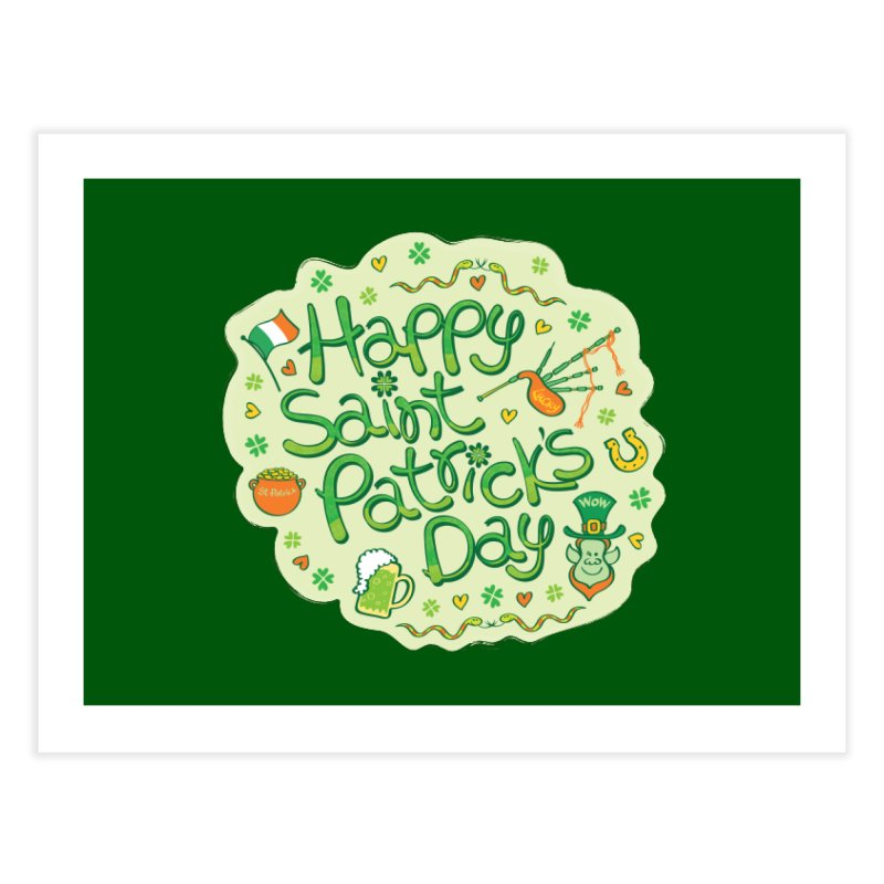 Celebrate Saint Patrick's Day in big style! Home Fine Art Print by Zoo&co's Artist Shop