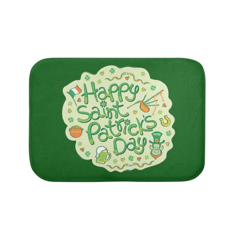 Celebrate Saint Patrick's Day in big style! Home Bath Mat by Zoo&co's Artist Shop