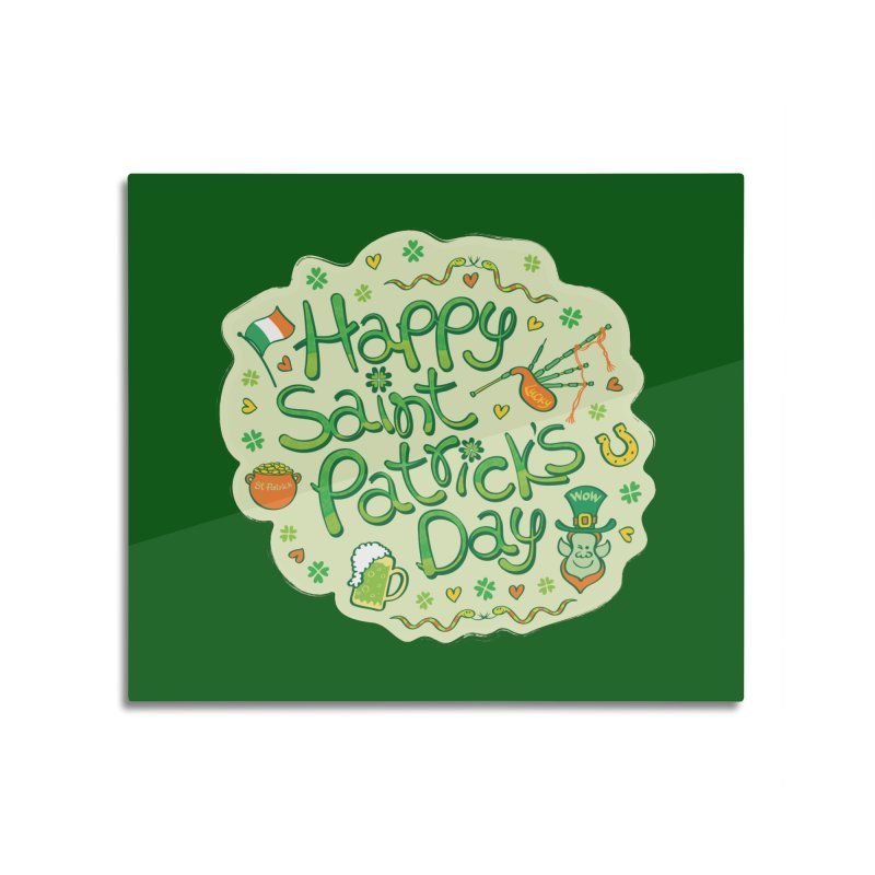 Celebrate Saint Patrick's Day in big style! Home Mounted Acrylic Print by Zoo&co's Artist Shop