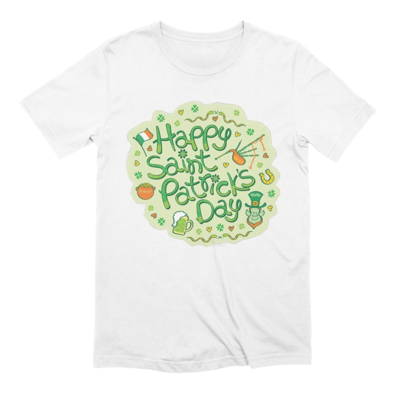 Celebrate Saint Patrick's Day in big style! Men's T-Shirt by Zoo&co's Artist Shop