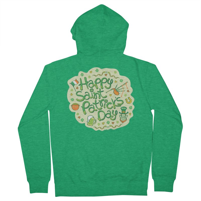 Celebrate Saint Patrick's Day in big style! Women's Zip-Up Hoody by Zoo&co's Artist Shop