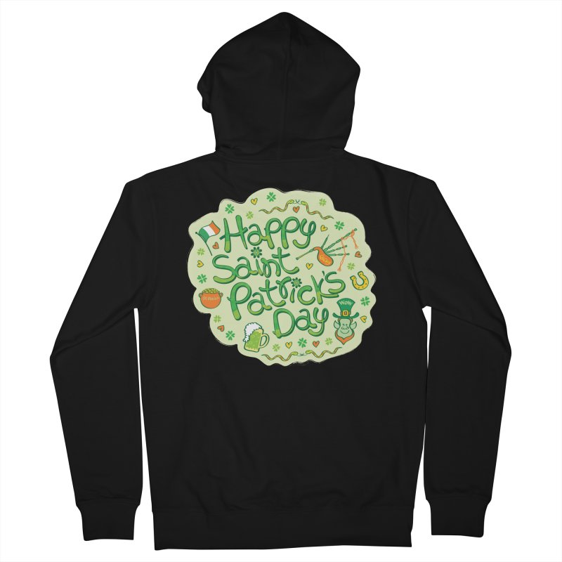 Celebrate Saint Patrick's Day in big style! Men's Zip-Up Hoody by Zoo&co's Artist Shop