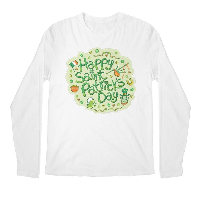 Celebrate Saint Patrick's Day in big style! Men's Longsleeve T-Shirt by Zoo&co's Artist Shop