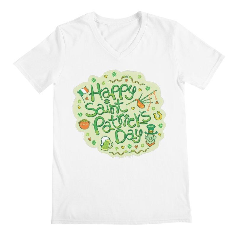 Celebrate Saint Patrick's Day in big style! Men's V-Neck by Zoo&co's Artist Shop