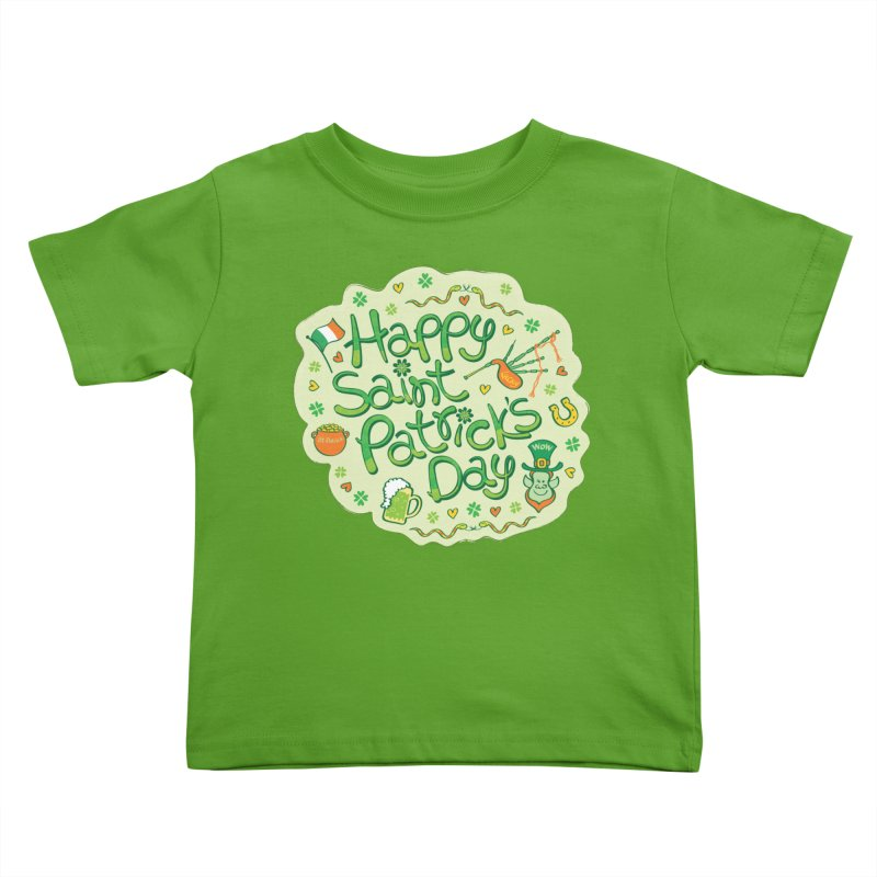 Celebrate Saint Patrick's Day in big style! Kids Toddler T-Shirt by Zoo&co's Artist Shop
