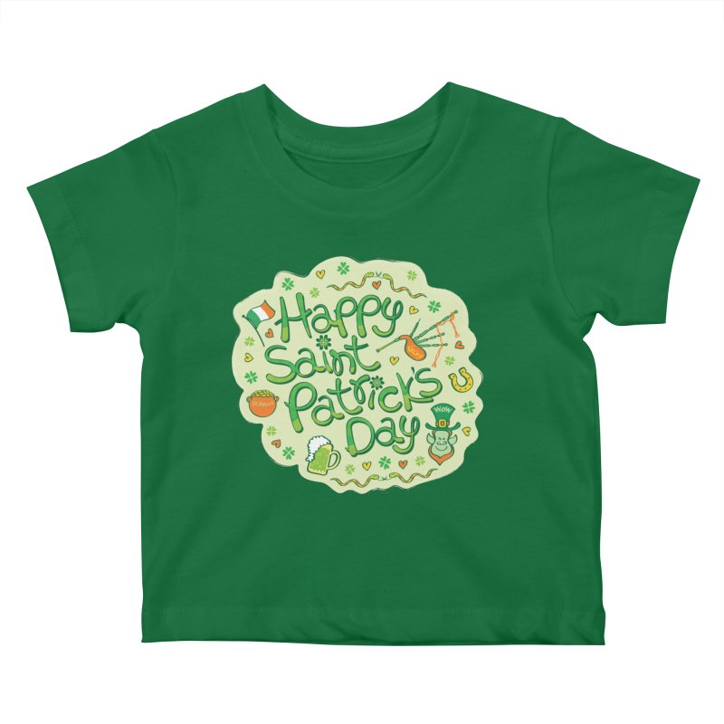 Celebrate Saint Patrick's Day in big style! Kids Baby T-Shirt by Zoo&co's Artist Shop