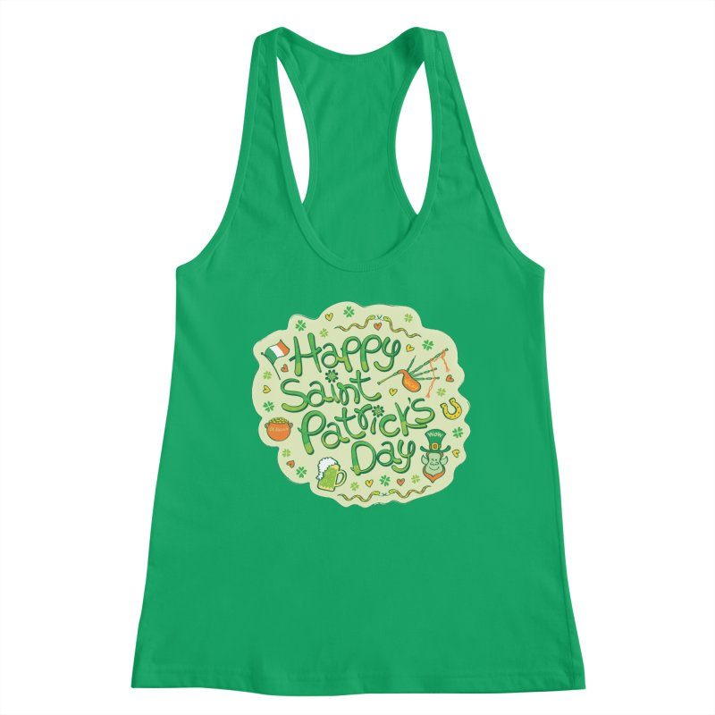 Celebrate Saint Patrick's Day in big style! Women's Tank by Zoo&co's Artist Shop