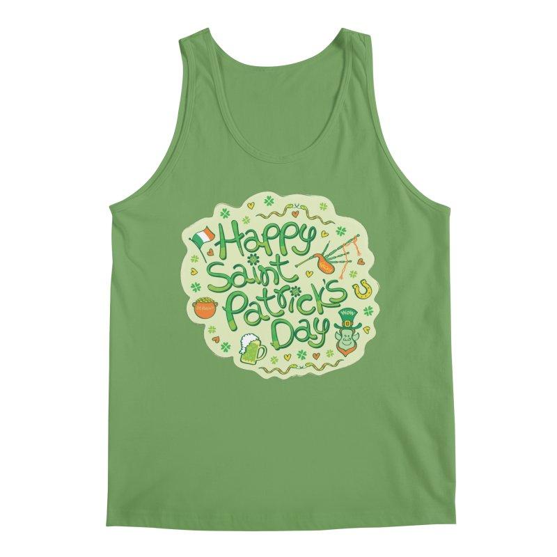 Celebrate Saint Patrick's Day in big style! Men's Tank by Zoo&co's Artist Shop