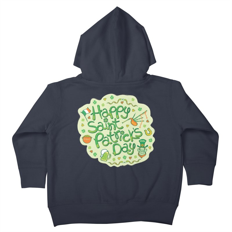 Celebrate Saint Patrick's Day in big style! Kids Toddler Zip-Up Hoody by Zoo&co's Artist Shop