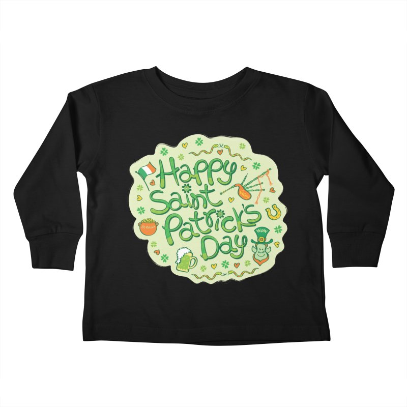 Celebrate Saint Patrick's Day in big style! Kids Toddler Longsleeve T-Shirt by Zoo&co's Artist Shop