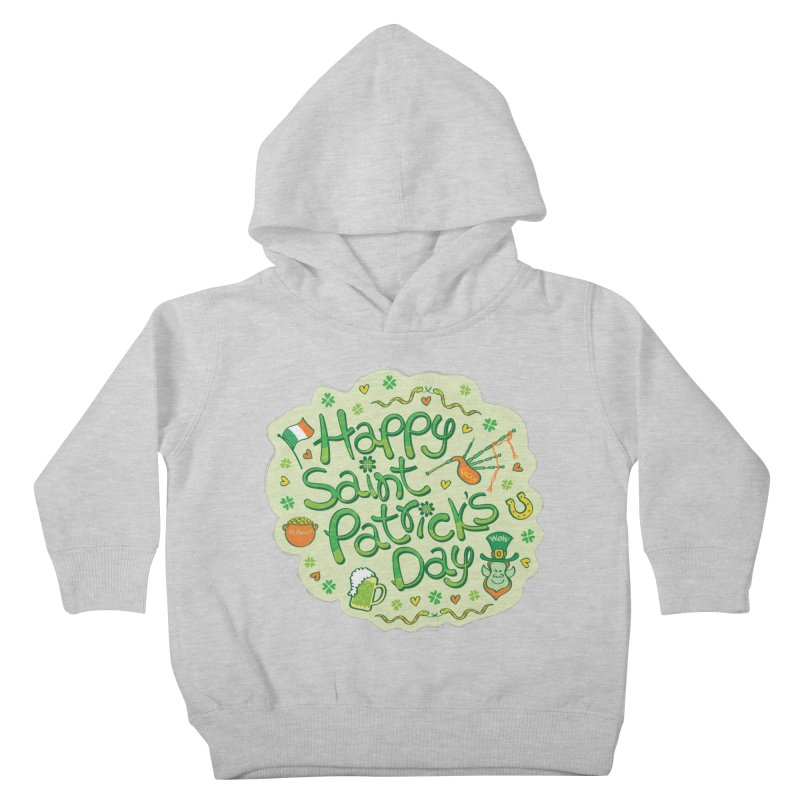Celebrate Saint Patrick's Day in big style! Kids Toddler Pullover Hoody by Zoo&co's Artist Shop