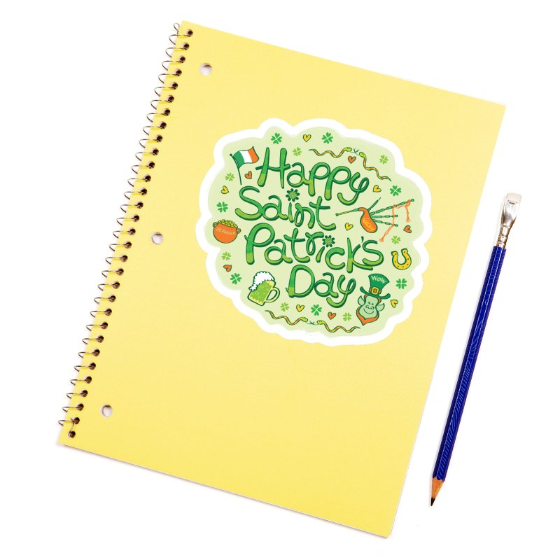 Celebrate Saint Patrick's Day in big style! Accessories Sticker by Zoo&co's Artist Shop