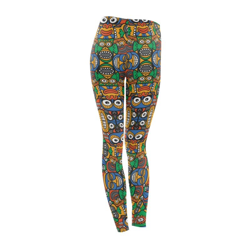 All African fantasy in a single pattern design Women's Bottoms by Zoo&co's Artist Shop